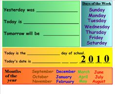 smart board calendar