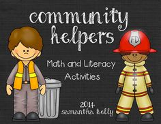 LOVE teaching with themes in Kindergarten.  Check out these math and literacy activities for Community Helpers!