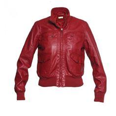 Jaqueta couro vermelho - E-closet