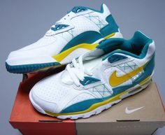 488b8117a3f Nike Air Trainer SC Low White Emerald Yellow