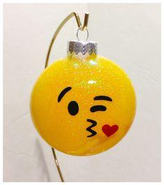 A personal favorite from my Etsy shop https://www.etsy.com/listing/480386754/glitter-kissy-emoji-ornament