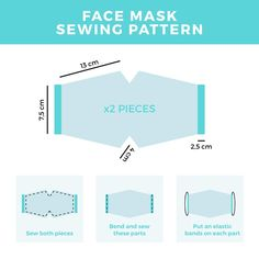Easy Face Masks, Diy Face Mask, Homemade Face Masks, Mascara 3d, Blue Face Mask, Face Face, Pattern Sketch, Vector Pattern, Crochet Mask