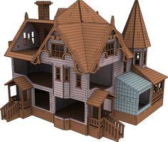 Laser Cut ply en bois Maison Simpsons Modèle 3d Puzzle//Kit