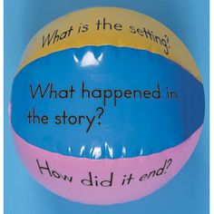 Guided Reading Beach Ball--My kids love doing this! Comprehension Activities, Reading Activities, Literacy Activities, Teaching Reading, Guided Reading, Reading Comprehension, Fun Learning, Kinesthetic Learning, Shared Reading