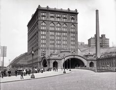 Union Station circa early 1900s. With the merging of Lines West and Lines East into the Pennsylvania Railroad in 1920 the station became Penn Station.