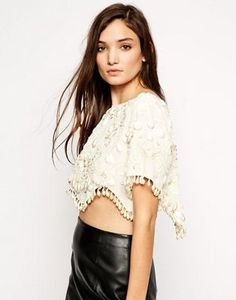 ASOS T-Shirt With Tear Drop Embellishment