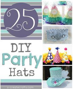 25 Party Hat Tutorials!!