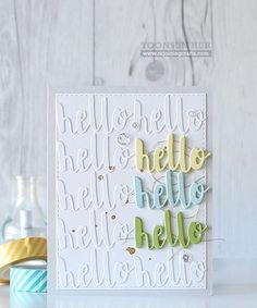 Great card by Yoonsun using Simon Says Stamps Exclusive hello.