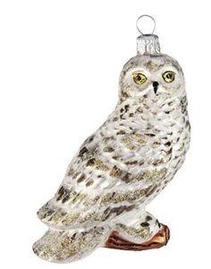 "SNOWY OWL, 4""H, GLASS, $27; ABIGAIL'S COLLECTION: 866-395-1801; TANNENBAUMTREASURES.COM."