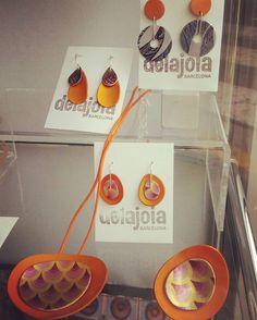 #delajoia #joyasdeautor #jewelryauthor #newcoleccion #aluminio #mandalas #colors #intenso #summer #diseño #desing #orange #naranja #estampado #mamamoderna #mamaactual #mami #mum #regalosleonor