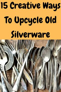 After time silverware will chip, scratch, or break altogether. But before you toss out your old silverware to replace it with new stuff you might want to consider upcycling it. There are lots of cool ways you can reuse your old silverware and transform it into something funky and new.