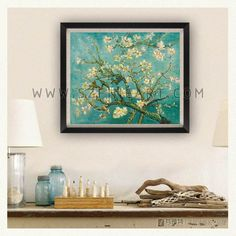 Vincent Willem van Gogh-Almond flowers in blossom