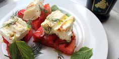 Grill a Watermelon and Cheese Appetizer
