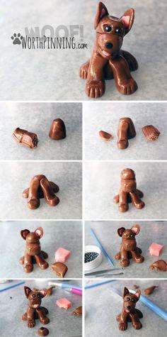 Worth Pinning: Gum Paste Dog Figure