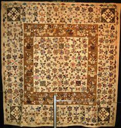 A very unique antique quilt. C.1800. Hand pieced and appliqued. Chicago International Quilt Show 2010.