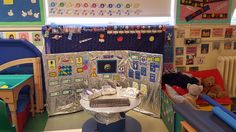 Space station role play are using Twinkl resources.