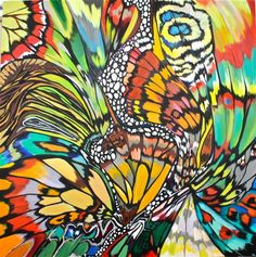 Farfalla (Mariposa) by DL Watson- butterfly wings Butterfly Art, Butterflies, Butterfly Colors, Illustrations, Beautiful Paintings, Online Art Gallery, Love Art, Unique Art, Painting Inspiration