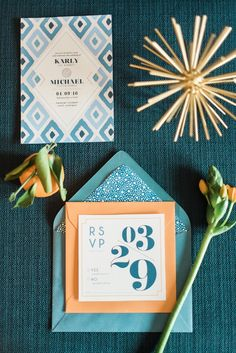Mid-Century Modern Inspired Wedding Ideas | B. Jones Photography on @perfectpalette via @aislesociety