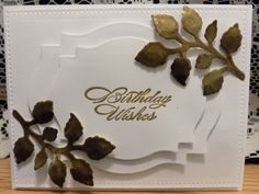 IC522 Gold Leaf Birthday by Shoe Girl - Cards and Paper Crafts at Splitcoaststampers