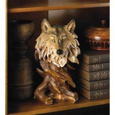 Beautiful Wolf Bust Statue Figurine Wolves Head Wildlife Spirit Home Decoration #HomeLocomotion