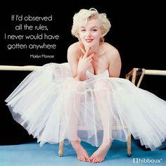 """Eğer tüm kurallara bağlı kalsaydım, hiç bir yere gelemezdim."""" Marilyn Monroe  #hibboux #marilynmonroe #quote #sozler #live #rules #beauty #regret #korku #makeup #me #tflers #sleep #wear #best"""