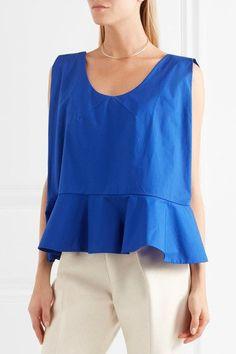 Royal-blue cotton-poplin Slips on  100% cotton Hand wash  Designer color: Klein Blue