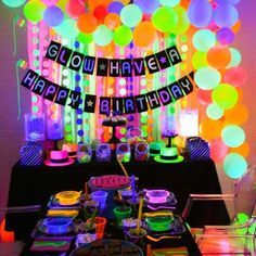 neon glow in the dark birthday party decor ideas idea – Kara's Party Ideas .com neon glow in the dark birthday party decor ideas idea neon glow in the dark birthday party decor ideas idea 12th Birthday Party Ideas, 13th Birthday Parties, 14th Birthday, Birthday Party Decorations, Craft Party, Glow Party Decorations, Neon Birthday Cakes, Neon Party Themes, Ideas Party