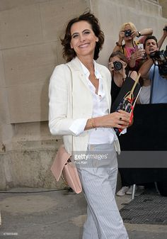 Ines De La Fressange leaves the Chanel show as part of Paris Fashion Week Haute Couture Fall/Winter 2015/2016 on July 7, 2015 in Paris, France.