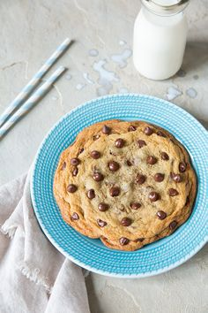Easy Single Serve Chocolate Chip Cookie   Cooking Classy
