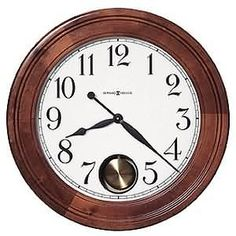 Howard Miller Griffith Reloj De Pared Brown Cherry-finished Wooden Statement Wall Clock with Large Numbers (Cherry Finish)