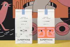 Coffee shop branding - Superthing Coffee Shop Brand and Packaging Design – Coffee shop branding Beverage Packaging, Coffee Packaging, Food Packaging, Chocolate Packaging, Bottle Packaging, Web Design, Brand Design, Graphic Design, Food Design