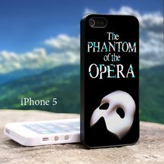 The Phantom Of The Opera - Design For iPhone 5 Black Case   GoToArt - Accessories on ArtFire