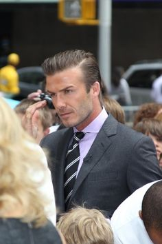david beckham.  i always wonder if he dresses himself or if it's all victoria...