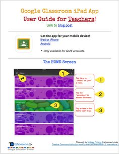 Excellent Google Classroom Visual Guides for Teachers and Students ~ Educational Technology and Mobile Learning