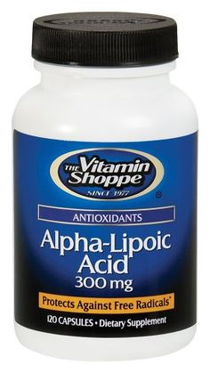 Take 4x per day. Before breakfast, before lunch, before dinner, before bed. Vitamin Shoppe - Alpha-Lipoic Acid, 300 mg, 120 capsules.