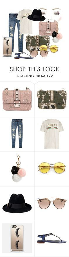 """""""gucci"""" by fanny-sandberg on Polyvore featuring Valentino, Hollister Co., Gucci, GUESS, Wildfox, Christian Dior, Casetify and Balenciaga"""