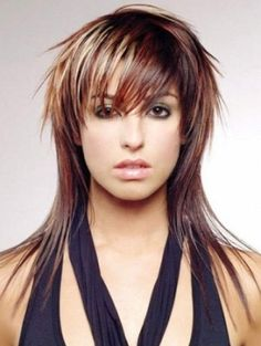 Funky Hairstyles with Bangs and Layers for Long Hair Photos