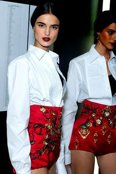 Blanca Padilla in Dolce & Gabbana - red and white