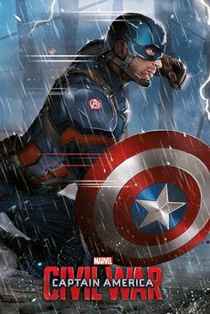 Captain America Civil War Captain America - Official Poster