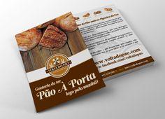 Volta do Pão   Flyer on Behance - Unleash Design more at www.unleashdesign.ca #GraphicDesign #VoltadoPao  #Bakery #flyer