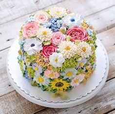 gâteau printemps déco florale