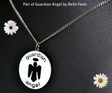 TWO PENDANTS: Pair of Guardian angels (you can wear both on one chain or seperate chains). Know a special person or loved one going through a time that needs strength? This would make a perfect reminder