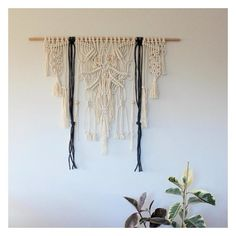 L A U N C H our newbie is a keeper. Reminds me of the back of a birds wings in flight. Can remake if interested. 1170 x 1000mm, $299. Handmade with natural cotton cord, charcoal wool and raw wooden beads. Mounted on Tasmanian oak #modernmacrame #eclecticinteriors #bohemianinteriors