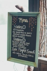 beautiful chalkboard menu // photo by The Schultzes