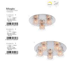 Lustra aplicata design modern Magic 3L 18093/79 BL - Corpuri de iluminat, lustre, aplice