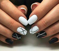 61 creative colorful stylish summer nails design ideas for 2018 - nail art . - 61 creative colorful stylish summer nails design ideas for 2018 – nail art – occasional nail de - White Acrylic Nails, Summer Acrylic Nails, Best Acrylic Nails, Acrylic Nail Designs, Black Shellac Nails, Nail Manicure, Acrylic Nails With Design, White Summer Nails, Matte White Nails