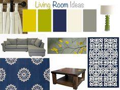 livingrom + wall color ideas + blue | Living Room Ideas | Ana Blue Mae