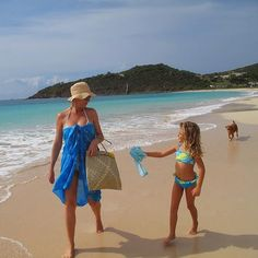 #Throwback to Life on Island... Just 2 #islandgirls and their pup on an after school beach walk