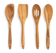 Olive Wood Spoon – RSVP International Inc. Rustic Kitchen Design, Wooden Kitchen, Wooden Ladle, Carved Spoons, Wood Spoon, Utensil Set, Wood Working For Beginners, Wooden Crafts, Wood Turning
