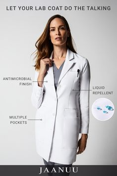 Pin By Akira Melisa On Natural Cures Amp Remedies Lab Coats Doctor Coat, Scrubs Outfit, White Lab, Classy Work Outfits, Lab Coats, Medical Anatomy, Cute Coats, Medical Scrubs, Optician